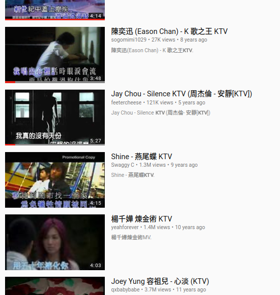 "YouTube search results for ""KTV"""